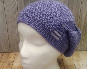 Lavender Slouchy Hat, Purple Slouch Hat, Open Stitch Hat, Fashion Accessories, Crochet Hat, Slouch Hat, Gifts for Her, Adult Female Hat
