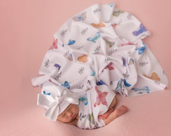 Butterfly Baby Swaddle Blanket