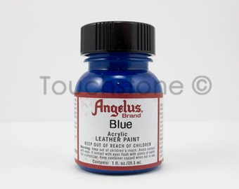 Blue Angelus Acrylic Leather Paint 1 oz Bottle