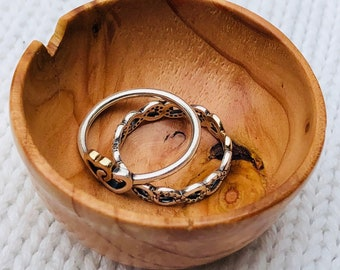 Hand-Turned Ring Bowl- Pine