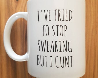 "11 oz ceramic mug - ""Stop swearing"""