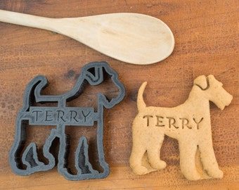 Airedale Terrier Cookie Cutter Custom Treat Personalized Pet