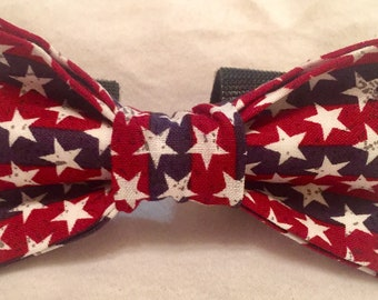 4th of July star bow tie