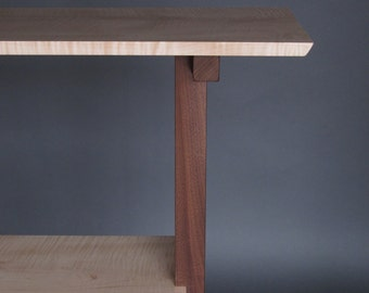 Console Table- Narrow Hall Table, Entry Table- Handmade Wood Furniture- CONTINENTAL COLLECTION