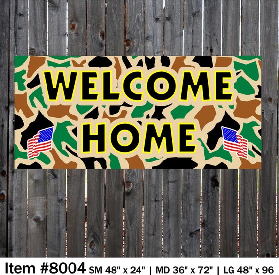 welcome home banner camo banner military banner