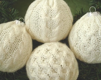 Deck the Balls with Aran - Christmas ornament knitting pattern