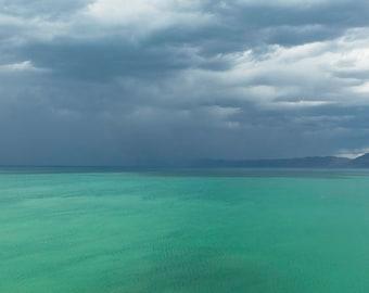 Bear Lake Summer Storm-  Landscape Utah Photography 10x20