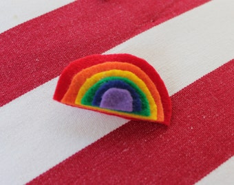 Felt Rainbow Hair Clip/Pin or Headband