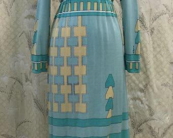 Vintage 1970s Paganne Maxi Dress