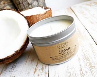 Coconut Soy Candle, Coconut Candle, Soy Candle, Soy Wax Candle, Soy Wax, Organic Candle, Natural Candle, Vegan Candle, Natural Soy Candle
