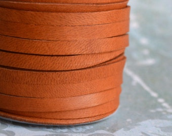 50 Foot Spool Deerskin Leather Cord 3/16-inch 5mm Soft Saddle