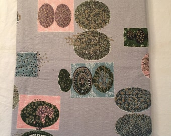 Nature inspired atomic barkcloth fabric