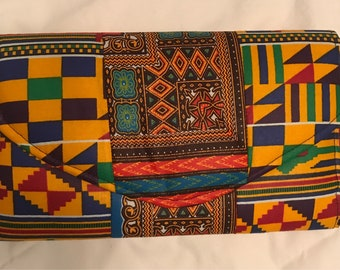 African fabric prints clutch bag