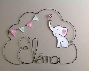 Wire name customizable elephant theme