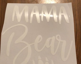 Mama Bear Paw Print Vinyl Decal
