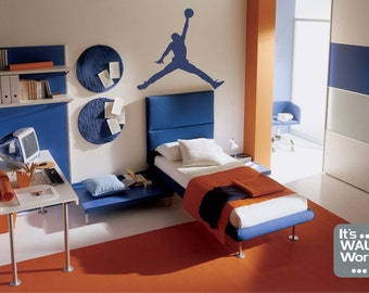 Basketball Player - Michael Jordan Vinyl Wall Decal - Teen Boy's Room Wall Sticker