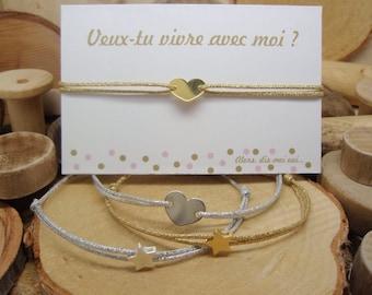 """Bracelet """"Veux-tu vivre avec moi ?"""""""