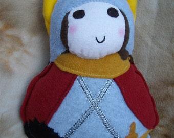 Saint Doll St. George Soft Catholic Religiouss Toy