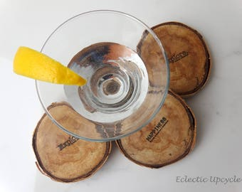 Explore Coasters Made with Reclaimed Birch Wood