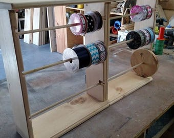 Double Ribbon Rack for 4-5 and 7 inch spools