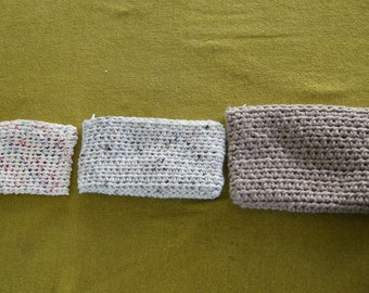 Crocheted Zipper Pouches