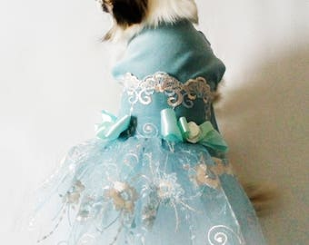 Dress for dogs - Blue velvett