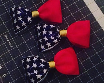 Wonder Woman Inspired Hairbow