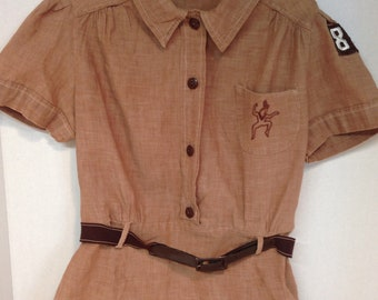 Vintage 1950s 1960s Brownie Girl Scout Uniform Scouting