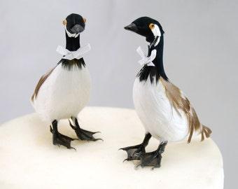 Canada Goose Wedding Cake Topper: Groom & Groom Gay Love Bird Cake Topper
