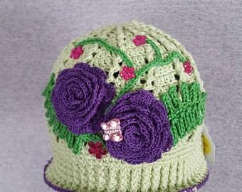 Girls Flower Easter Cloche Hat