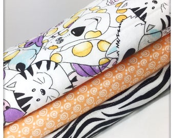 Cats and dogs zebra Burp Cloth Set- Burp Cloth- Baby- Burp Rag- Burping- Nursery- Nursing-Baby Shower- Baby Gift