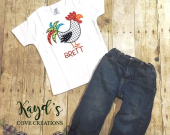 Boy Rooster Shirt - Rooster Shirt for Boy - Custom Boy Clothes - Personalized Farm Shirt - Rooster Shirt - Farm Shirt - Boy Shirt- Farm Life
