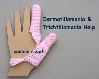 Skin Picking Thumb and Finger Guard - Excoriation Disorder - Dermatillomania - Long Term Bandage - Custom