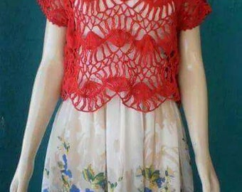 Boho Crochet Women Lace Blouse