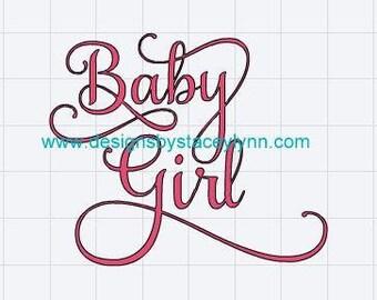 Baby Girl Glitter Iron-On