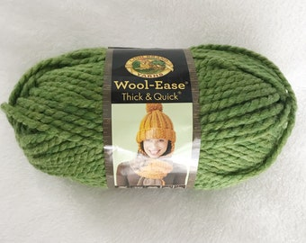 Lion Brand Yarns | Wool Ease | Thick and Quick | Super Bulky | Grass | Green