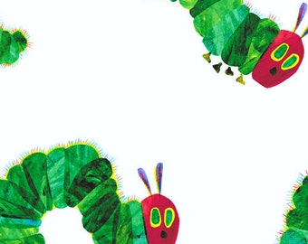 The Very Hungry Caterpillar Large Caterpillars  A-5281-M by Eric Carle for Andover Fabrics