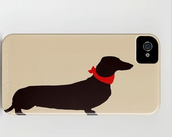 Dachshund Dog on Phone Case - Sausage Dog, Samsung Galaxy S7, iPhone 6S,  Dachshund Gifts, Dog Gift Ideas, Gifts for her , iPhone 8