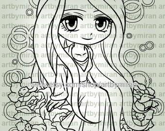 Digital Stamp - Lady Emma (#336)