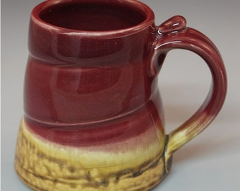 Red and Golden Brown Mug