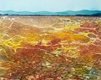 Earth Element:  Drought an original watercolor on canvas