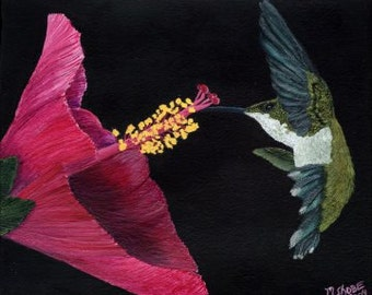 Hummingbird Flight Print