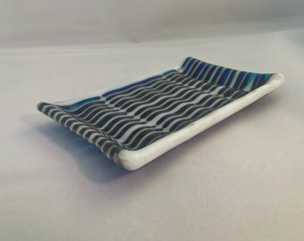 Fused Glass Soap Dish.