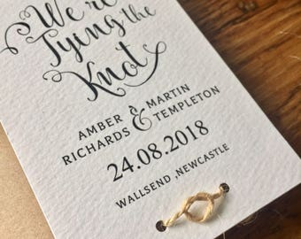 Rustic Tying the Knot - Save the Dates