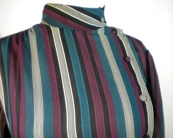 Vintage Chaus Striped Blouse