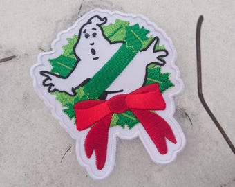 Ghostbusters Haunted Christmas Embroidered Patch