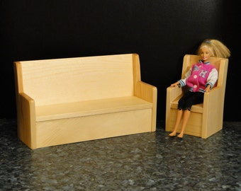 Couch/Sofa and Chair Set (064)