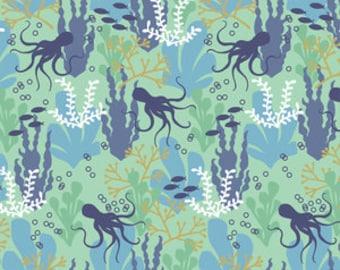 Organic cotton Crib sheets and Mini crib sheets including chicco lullago 4moms Bloom Baby Nuna Sena etc ocean blue octopus white kelp mint