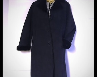 Vintage Brooks Brothers long faux shearling classic coat S