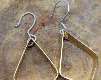 Brass and Sterling earrings
